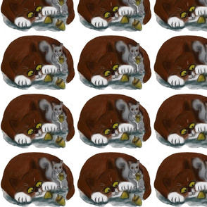Cat_and_Squirrel_Share_Acorns_-_Spoonflower
