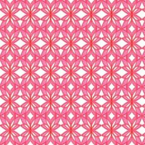 Petals and Diamonds Pink Orange