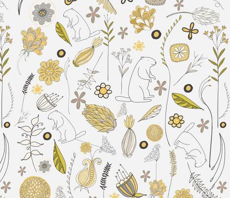 Woodland_wonders fabric by bridgettstahlman on Spoonflower - custom fabric