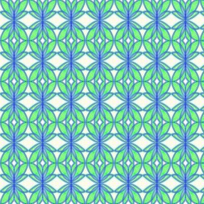 Lotus Leaves Pastel Blue Green