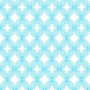 Aqua Crosses Crochet Lace