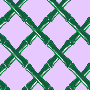 Bamboo Lattice in Lilac Bloom *REPEAT BY THE YARD*