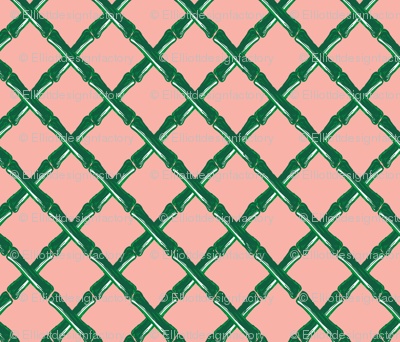 Bamboo Lattice in Peach Fizz *REPEAT BY THE YARD*
