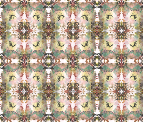 Rough Baroque Curliecue with Fish fabric by jenithea on Spoonflower - custom fabric