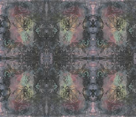 Rough Dark Baroque Curlicue 1 fabric by jenithea on Spoonflower - custom fabric