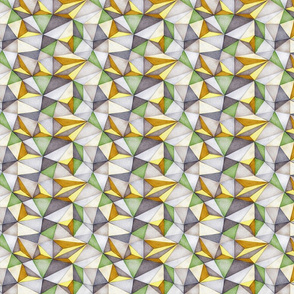 Crushed Geodesic Paper