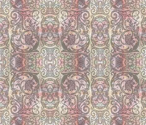 Rosy Baroque Cu fabric by jenithea on Spoonflower - custom fabric