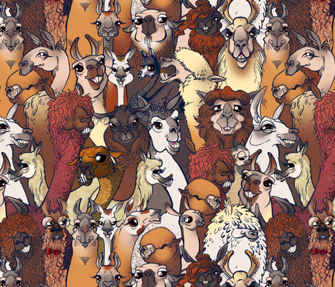Llamas Revised fabric by jadegordon on Spoonflower - custom fabric