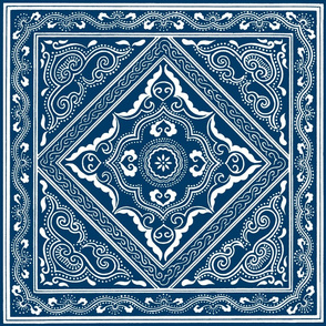 Chinese Indigo Tiles ~ Bian