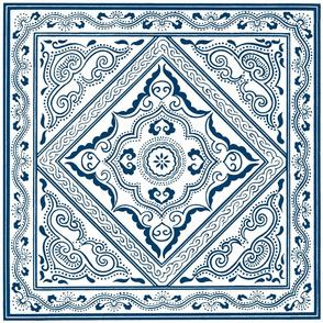 Chinese Indigo Tiles ~ Bian ~ Reverse