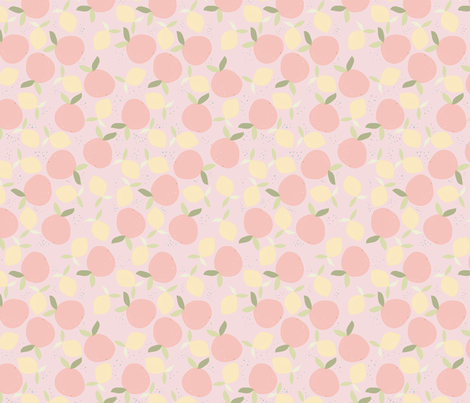 orange_juce__pastel_M fabric by nadja_petremand on Spoonflower - custom fabric