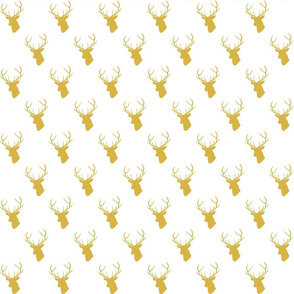 Gold Deer Silhouette half scale