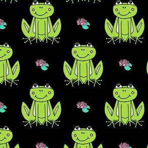 Happy Frogs - Lime Green/Black by Andrea Lauren