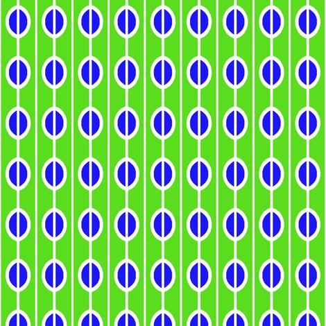 Beads Green Blue fabric by eve_catt_art on Spoonflower - custom fabric