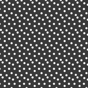 Scattered Dots - Dark Gray by Andrea Lauren