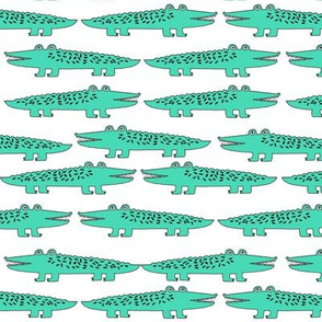 alligator // bright green alligator fabric boys room nursery print andrea lauren fabric andrea lauren design