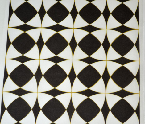 Black,White and Fake Gold Trendy Mosaic