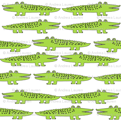alligator // lime green gator fabric reptile alligator fabric nursery kids boys reptiles