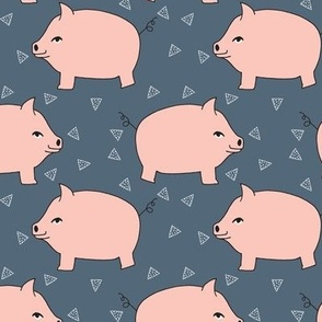 Piggy Bank - Pale Pink/Payne's Gray by Andrea Lauren