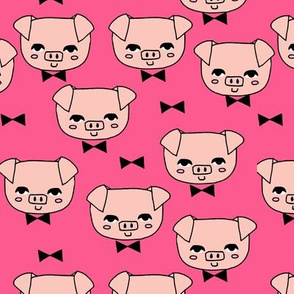 Mr. Pig - Bright Pink/Pale Pink by Andrea Lauren