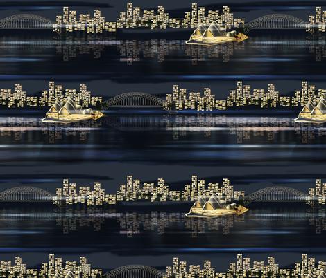Sydney by night fabric by kociara on Spoonflower - custom fabric