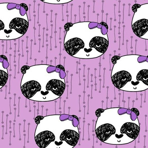 Panda with Bow - Wisteria by Andrea Lauren