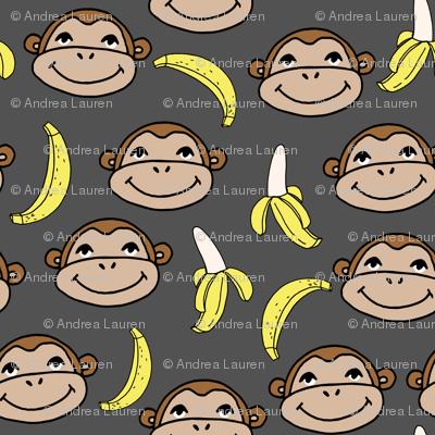 Happy Monkey - Charcoal by Andrea Lauren