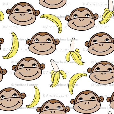 Happy Monkey - White by Andrea Lauren