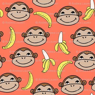 Happy Monkey - Carrot Orange by Andrea Lauren