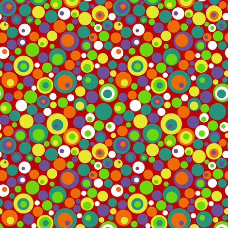 Awesome Mix Vol. 2 Retro Dots fabric by tierannosaurus on Spoonflower - custom fabric