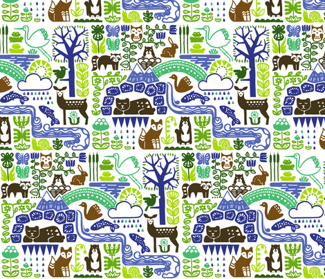 Spring is coming... (groundhogs-green) fabric by analinea on Spoonflower - custom fabric