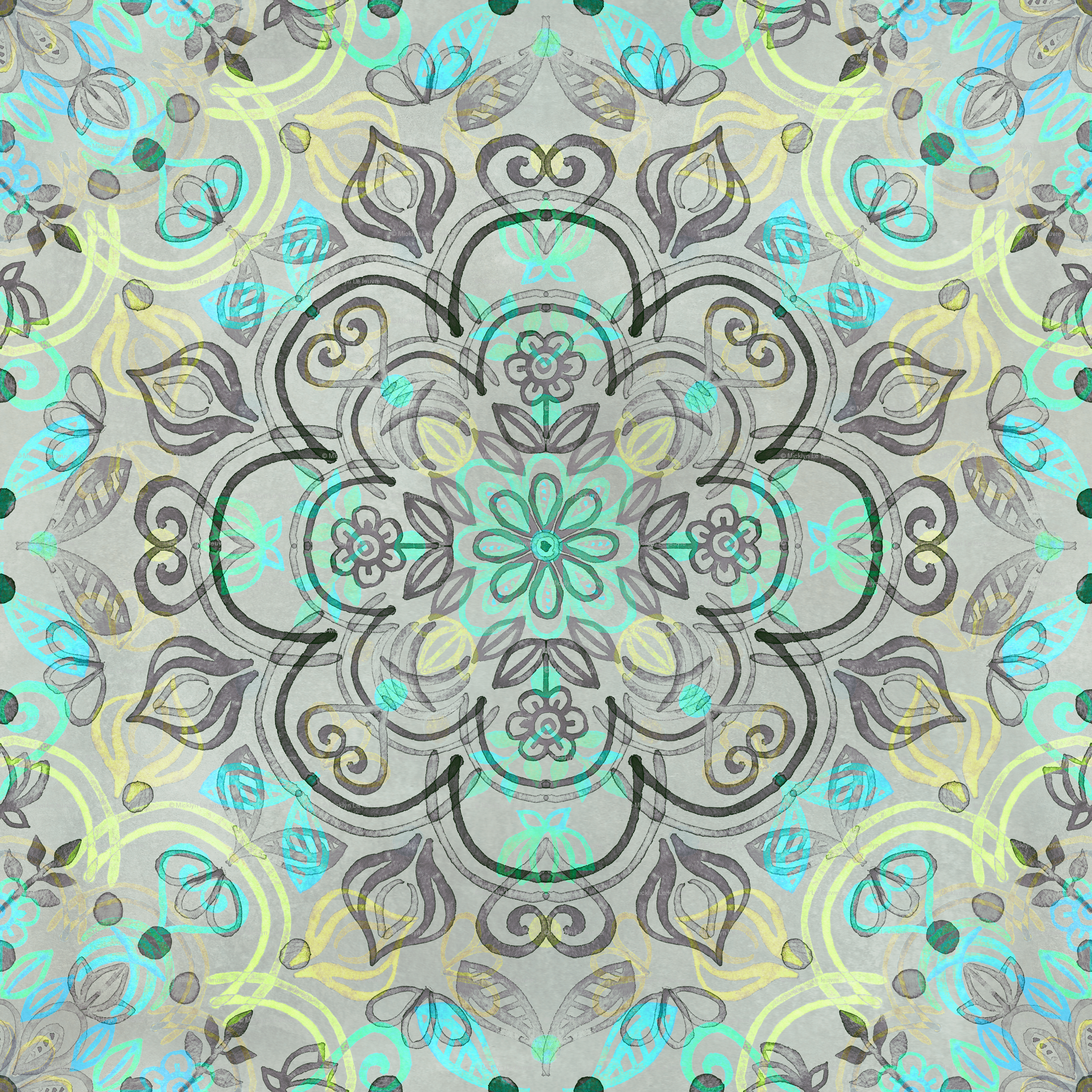 Beautiful Wallpaper Grey Watercolor - rrmint_yellow_grey_watercolor_folk_pattern_base_highres  Photograph_7862100.png
