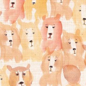 bear watercolor