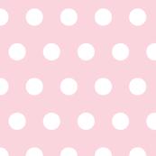 Circles white on pink