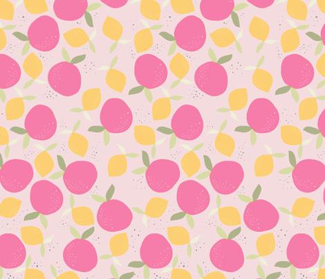 orange_juce__rose_L fabric by nadja_petremand on Spoonflower - custom fabric