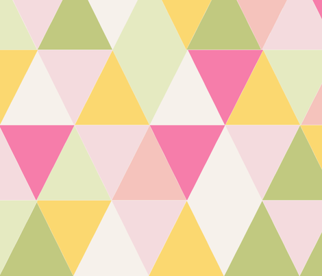 triangle_multico_rose_L fabric by nadja_petremand on Spoonflower - custom fabric