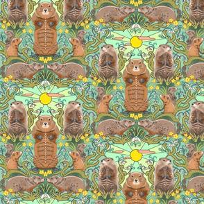 Art Nouveau Groundhogs
