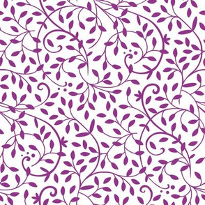 Curly Vine Purple White