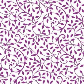 Curly Vine Purple White