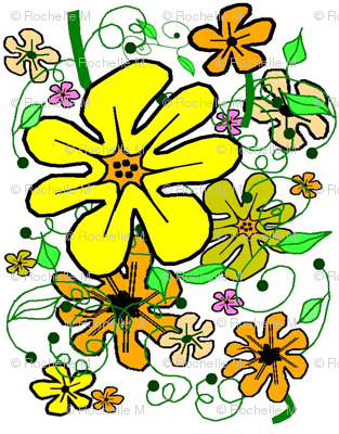 Sunshine Floral on White