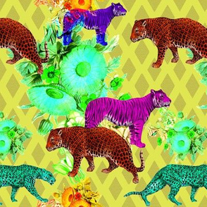 exotic cats of the wallpaper jungle