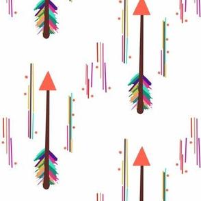 Watercolor Flying Arrows