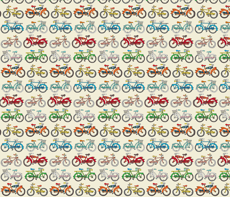 "bountiful bicycles! ...bikes a plenty fabric by dave_""squid""_cohen on Spoonflower - custom fabric"