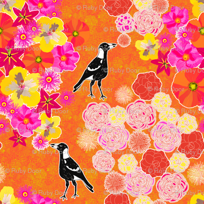 Toowoomba Magpies & Flowers