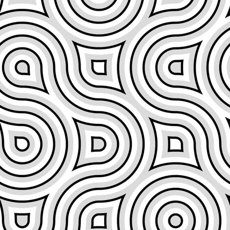 Modern Vertigo gray fabric by joanmclemore on Spoonflower - custom fabric