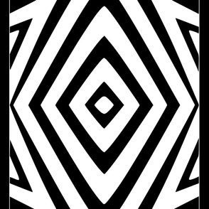 Tribal Diamonds and Squares with border