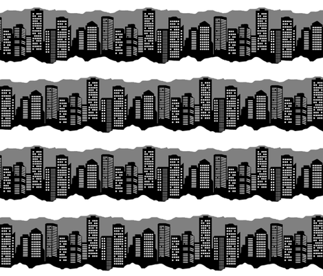 Winter in the City (Night) fabric by esheepdesigns on Spoonflower - custom fabric