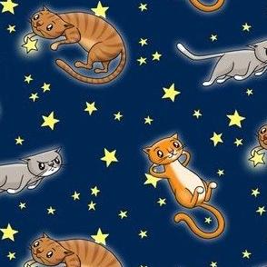 Astro Cats! Blue
