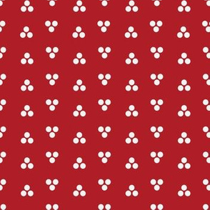 Dapper Dot - White and Red