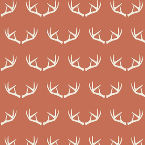 Antlers-Toasted Coral & Cream